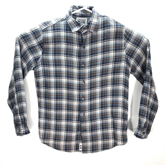 Converse One Star Mens Button Down Flannel Small
